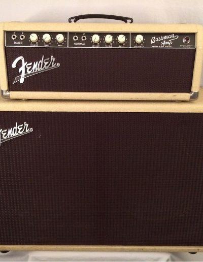 1962 Fender Bassman 2X12 Piggy Back Amp