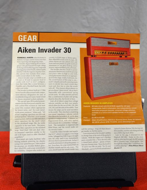 Aiken Invader Gear article